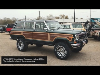 #VIGILANTE Jeep Grand Wagoneer: Hellcat  belly of the beast: frame assembly.