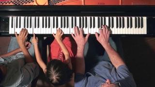 """Canon"" by Pachelbel on Piano - The Barton Family"