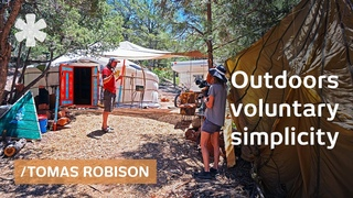 No-income outdoors lifestyle on Santa Fe mountains homestead