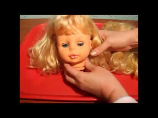 Как перепрошить волосы кукле