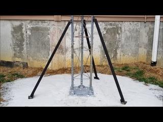 DIY Ham radio antenna tower installation supports
