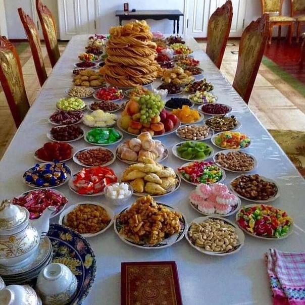 нашем фото сладостей на столе дастархан турции специально оборудованном