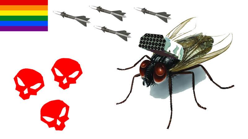 4 ракеты, 3 трупа, 1 муха