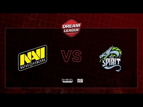 Natus Vincere vs Team Spirit, DreamLeague S13 QL, bo3, game 2 [CrystalMay Smile]