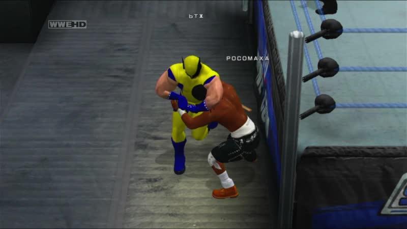 WWE SmackDown vs Raw 2011 Wolverine vs nigger Blood Росомаха против ниггера одна штанина Кровь Качество 11DeadFace