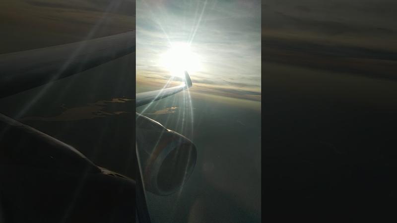 11 09 2019 рейс Аэрофлота по маршруту Калининград Москва солнышко садится