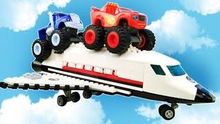 Qual é o carro mais rápido? Uma corrida contra o cavalo! Blaze e as Monster Machines em português