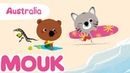 Mouk discovers Australia - 30 minutes compilation HD   Cartoon for kids