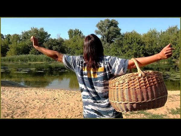 Плетение корзины с двумя крышками пикниковой Муки творчества Доработка