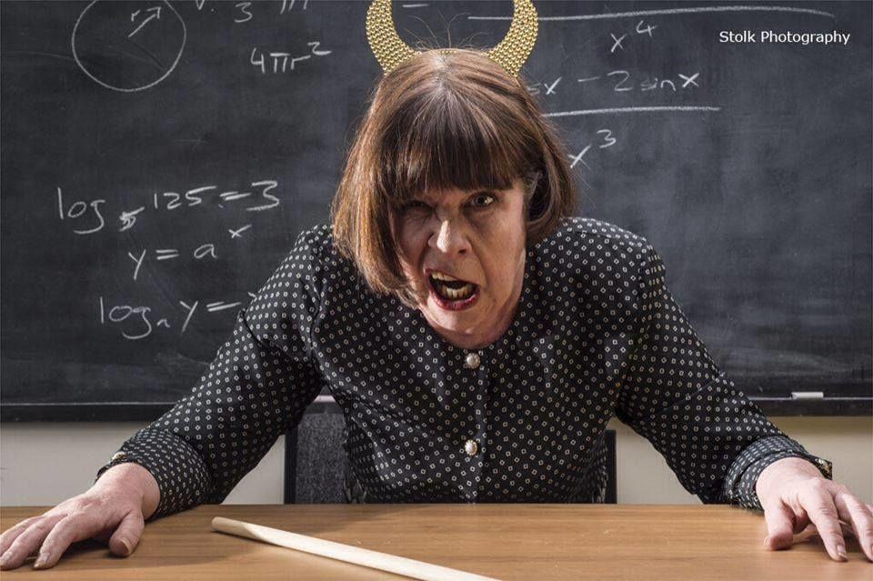 Открытка, смешная картинка злая учительница