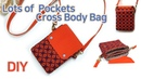 DIY Lots of Pockets Cross Body Bag/ 멀티포켓 크로스백 만들기/Cross Body Bag tutorial/