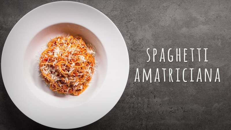 Spaghetti Amatriciana: Italienische Rezepte
