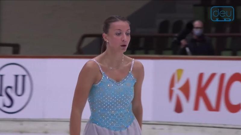 Nicole SCHOTT Nebelhorn trophy 2020 SP