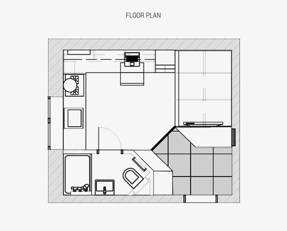 Квартира для студента из Одессы, 18 м²