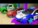 Learn Shapes with Police Car Assembly Rectangle Tyre's, Magic Garage Cartoon   KidMission100