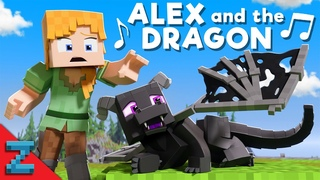 """""""Alex and the Dragon"""" [VERSION A] Minecraft Animation Music Video (""""Fly Away"""" Song by TheFatRat)"""