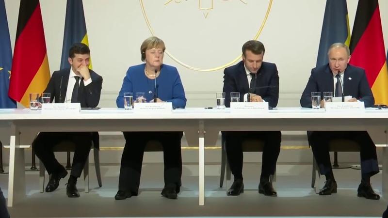 Зеленский смеется над словами Путина о Донбассе на Нормандском саммите
