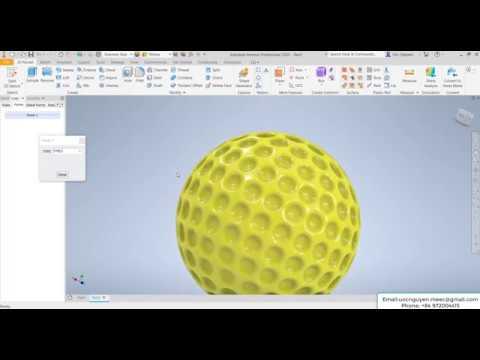 Inventor 2020 Tutorial Golf Ball iLogic