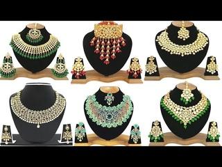 20 Variety Of Reception Wear Kundan Stones Necklace Sets