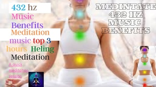 432 hz Music Benefits ⚫ Meditation Music Top 3 Hours Healing Meditation