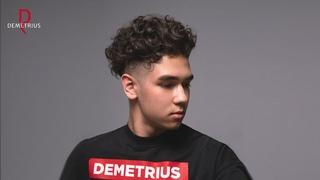 DEMETRIUS | Мужская стрижка Андеркат на кудрявые волосы | Undercut curly hair men | Стрижка бритвой