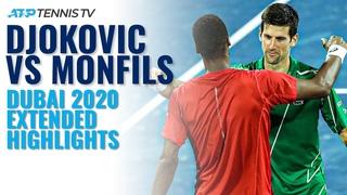 Novak Djokovic vs Gael Monfils | Dubai 2020 Semi-Final Extended Highlights