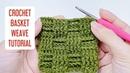 MÓC HỌA TIẾT: Hướng dẫn móc mũi đan tre - đan rổ ô vuông dễ hiểu | NoLi Handmade