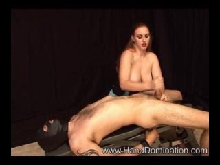 08 27 jamie - bound slave gets humiliated and milked by busty redhead cfnm bdsm domination dick handjob masturbation