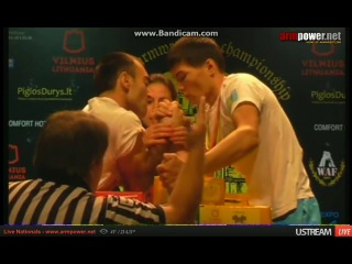 ALEKX PRETSUASHVILI vs TALGATBEK RUSTEMBEK правая рука финал категории до 55 кг WAC 2014