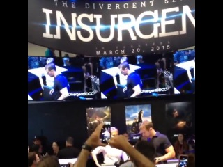 After pacing back and forth for hours I got this SDCC Insurgent Divergent TheoJames ShaileneWoodley Four TobiasEaton TrisPrior Read more at