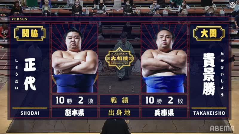Shodai vs Takakeisho - Aki 2020, Makuuchi - Day 13