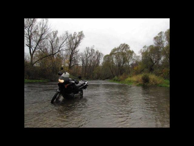 Honda TransAlp XL650 in the river