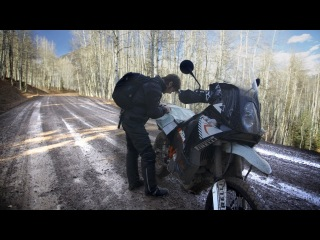 Off-Road in the Snow on a KTM 990 Adventure - RideApart