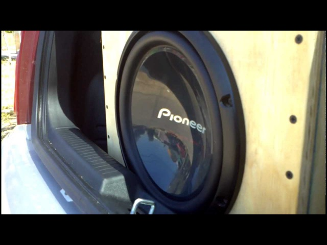 Pueba De Sonido Con Subwoofer 1.400 WTS Pioneer 12 Pulgadas En Una Caja Nueva Marcando 120.6 DB