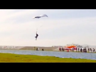 Friday Freakout: Skydiver Gives Up, Cuts Away Mid-Swoop