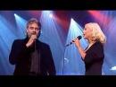 Andrea Bocelli Christina Aguilera Somos Novios on stage