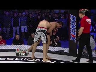 Pro FC 57  Шамиль Абдулхаликов  vs Михаил Колобегов драка после боя