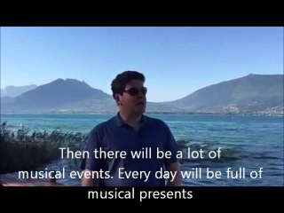 Denis Matsuev vlog from Annecy with english subtitles