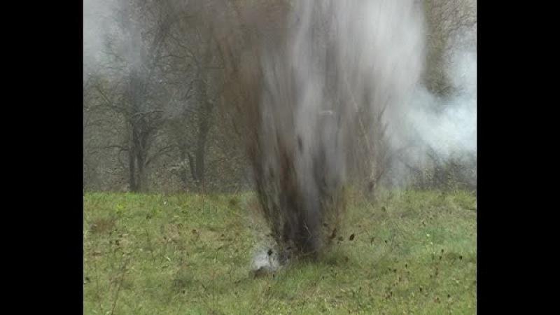 ГМТД взрыв 2 и 8 грамм HMTD explosion 2 8 g