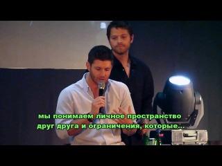 Миша и Дженсен о личном пространстве [rus subs]