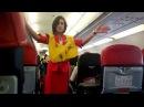 Air Asia beautiful stewardess show Pre_flight safety demo