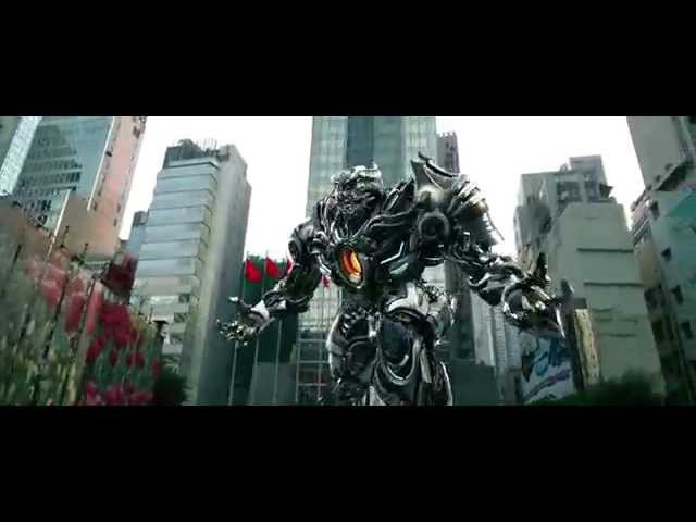 Transformers Age Of Extinction Bumblebee and Hound vs vehicons full scene HD 1080p