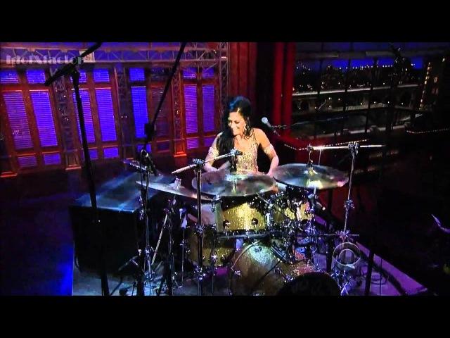 Sheila E SOLO DE BATERIA com a Orquestra CBS David Letterman HD