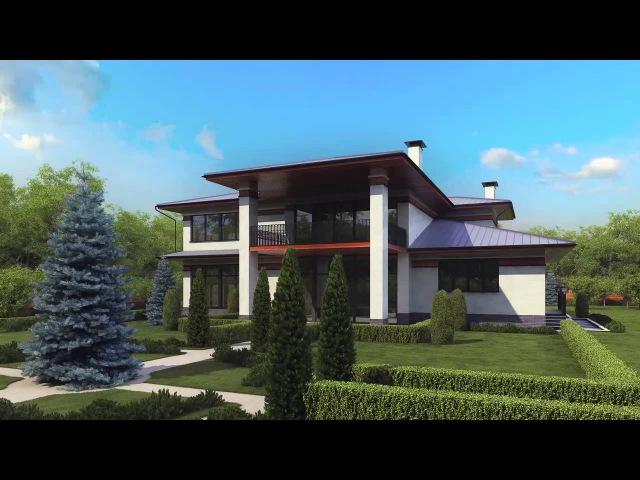 Проект дома с большим гаражом