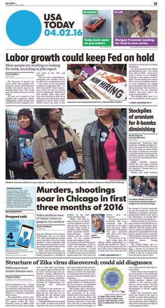 USA Today  April 02 2016