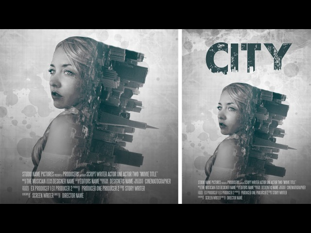 Photoshop Manipulation | Film Poster Design | Double Exposure Effect Tutorial