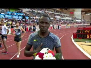 Wilson Kipketer Wins Men's 800m Final IAAF Diamond League Monaco 2016