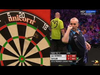 Phil Taylor vs Michael van Gerwen (2016 Premier League Darts / Final)