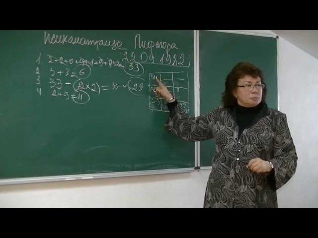 Психоматрица Пифагора. Психолог Наталья Кучеренко, лекция №10.