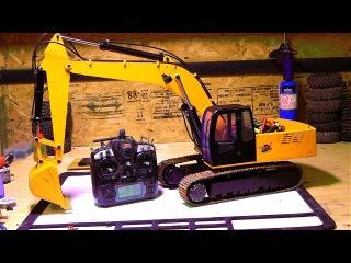 RC ADVENTURES - 1/12th Scale 4200xl Excavator - Hydraulic Pump ESC Upgrade - Radio Controlled